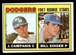 1967 Topps #12   -  Bill Singer / Jim Campanis Dodgers Rookies Front Thumbnail