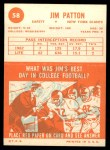1963 Topps #58  Jim Patton  Back Thumbnail