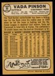 1968 Topps #90  Vada Pinson  Back Thumbnail