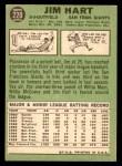 1967 Topps #220  Jim Hart  Back Thumbnail