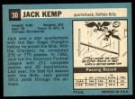 1964 Topps #30  Jack Kemp  Back Thumbnail