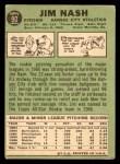 1967 Topps #90  Jim Nash  Back Thumbnail