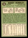 1967 Topps #106  Randy Hundley  Back Thumbnail