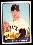 1965 Topps #84  Ron Herbel  Front Thumbnail