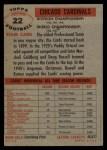 1956 Topps #22   Cardinals Team Back Thumbnail