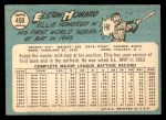 1965 Topps #450  Elston Howard  Back Thumbnail