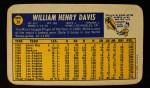 1970 Topps Super #39  Willie Davis  Back Thumbnail