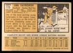 1963 Topps #115  Carl Yastrzemski  Back Thumbnail