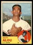 1963 Topps #128  Matty Alou  Front Thumbnail
