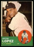 1963 Topps #92  Hector Lopez  Front Thumbnail