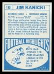 1968 Topps #180  Jim Kanicki  Back Thumbnail