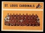 1960 Topps #112   Cardinals Team Checklist Front Thumbnail