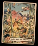 1941 Gum Inc. War Gum #60   Bombers Attack Japanese In New Guinea Front Thumbnail