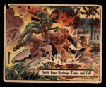 1941 Gum Inc. War Gum #57   Dutch Hero Destroys Tanks And Self Front Thumbnail