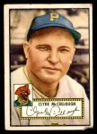 1952 Topps #218  Clyde McCullough  Front Thumbnail