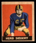 1949 Leaf #70  Herb Siegert  Front Thumbnail