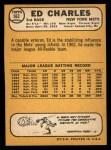1968 Topps #563  Ed Charles  Back Thumbnail