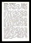 1950 Callahan Hall of Fame #12  Henry Chadwick  Back Thumbnail