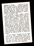 1950 Callahan Hall of Fame #31  Jimmie Foxx  Back Thumbnail