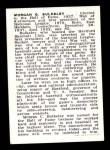 1950 Callahan Hall of Fame #9  Morgan G. Bulkeley  Back Thumbnail