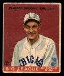 1933 Goudey #135  Woody English  Front Thumbnail