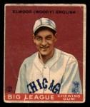 1933 Goudey #135  Woody English  Front Thumbnail