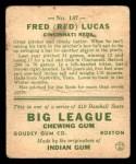 1933 Goudey #137  Red Lucas  Back Thumbnail