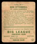 1933 Goudey #34  Bob O'Farrell  Back Thumbnail