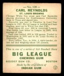 1933 Goudey #120  Carl Reynolds  Back Thumbnail