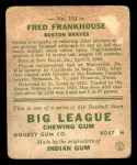 1933 Goudey #131  Fred Frankhouse  Back Thumbnail