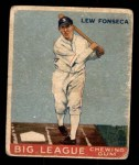 1933 Goudey #43  Lew Fonseca  Front Thumbnail