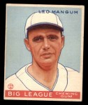 1933 Goudey #162  Leo Mangum  Front Thumbnail