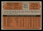 1972 Topps #337  Mike Kilkenny  Back Thumbnail