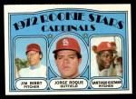 1972 Topps #316   -  Jim Bibby / Santiago Guzman / Jorge Roque Cardinals Rookies   Front Thumbnail