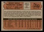 1972 Topps #768  Denny Doyle  Back Thumbnail