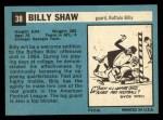 1964 Topps #38  Billy Shaw  Back Thumbnail