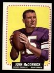 1964 Topps #52  John McCormick  Front Thumbnail
