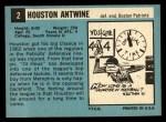1964 Topps #2  Houston Antwine  Back Thumbnail