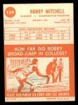 1963 Topps #159  Bobby Mitchell  Back Thumbnail