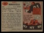 1957 Topps #71  Andy Robustelli  Back Thumbnail