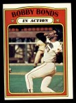 1972 Topps #712   -  Bobby Bonds In Action Front Thumbnail
