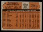 1972 Topps #412  Dick Kelley  Back Thumbnail