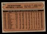 1972 Topps #594  Jim Beauchamp  Back Thumbnail