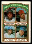 1972 Topps #93   -  Steve Carlton / Fergie Jenkins / Tom Seaver / Al Downing NL Pitching Leaders   Front Thumbnail