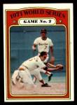 1972 Topps #224   -  Brooks Robinson / Mark Belanger 1971 World Series - Game #2 Front Thumbnail