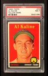 1958 Topps #70 YN Al Kaline  Front Thumbnail