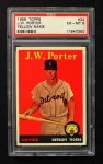 1958 Topps #32 YN J.W. Porter  Front Thumbnail