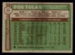 1976 Topps #56  Bobby Tolan  Back Thumbnail