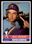 1976 Topps #244  Bill Sharp  Front Thumbnail