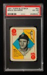 1951 Topps Blue Back #42  Bruce Edwards   Front Thumbnail